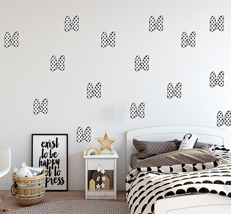 מגוון מדבקות קיר מויניל בדוגמאות וצבעים שונים לחדרי ילדים ונוער - תמונה 2