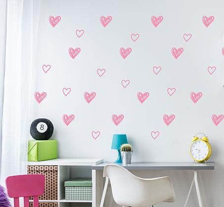 מגוון מדבקות קיר מויניל בדוגמאות וצבעים שונים לחדרי ילדים ונוער - תמונה 4