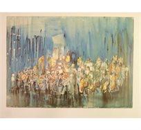 """""""פילהרמונית"""" - ציורו של קוסונוגי יוסף, הדפס בחתימה אישית בגודל 64X88 ס""""מ"""