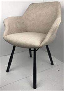 כיסא מעוצב דגם מג'יק מבד קטיפה איכותי צבע אבן רגליים שחורות