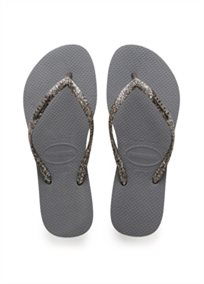 Havaianas נשים // Slim  Logo Metallic Steel Grey/Graphite