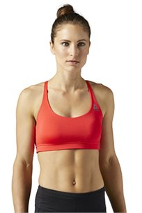 גוזיית אימון סטודיו לנשים REEBOK עם רצועה בגב בצבע אדום/כתום