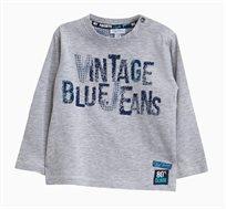 חולצת טי OVS ארוכה לתינוקות וילדים - אפור
