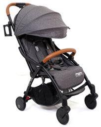 טיולון קומפקטי לתינוק עם קיפול אוטומטי טיק טק פלוס Tik Tak Plus - אפור כהה/שלדה שחורה/עור חום