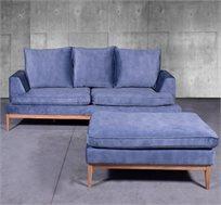 מערכת ישיבה תלת מושבית עם הדום בריפוד בד דגם פיקאסו