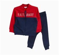 חליפת טריינינג OVS לתינוקות וילדים - כחול ואדום
