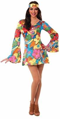 שמלת היפית נערות - נשים Gogo