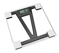 """משקל אדם דיגיטלי מדויק, בעל משטח עשוי זכוכית מחוסמת בעובי 6 מ""""מ המתאים למשקל עד 180 ק""""ג"""