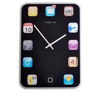 שעון קיר מזכוכית בעיצוב אייפד