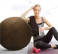 כדור ישיבה עם בד קטיפתי וידית נשיאה למגוון שימושים בבית או במשרד