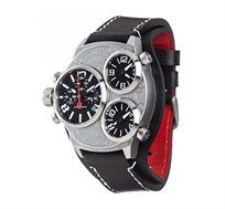 שעון יד כרונוגרף אנלוגי/דיגיטלי לגבר - TRIPLO Black