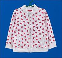 סווטשירט OVS לילדות  בצבע לבן עם הדפס לבבות