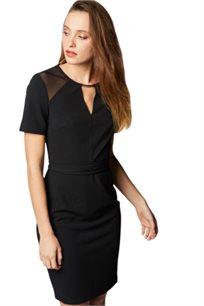 שמלה צמודה MORGAN  - שחור