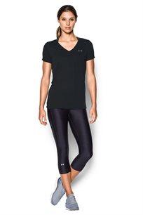 חולצת אימון וי לאישה UNDER ARMOUR מנדפת זיעה דגם 1290179 בשני צבעים לבחירה