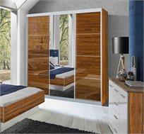 ארון הזזה 3 דלתות עם דלת מראה דגם רימון