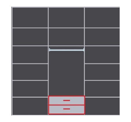ארון עם 3 דלתות הזזה טריקה שקטה ודלת מראה עם 14 מדפי אחסון ותליה דגם רימון - תמונה 2