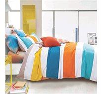 """סט מצעים למיטת יחיד """"MILANO"""" עשויה 100% כותנה מבחר דגמים"""