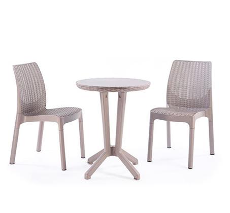 סט מערכת ישיבה דגם ביסטרו כולל שולחן ושני כסאות