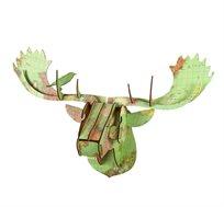 קישוט קיר מודפס מעץ בצורת ראש מוס