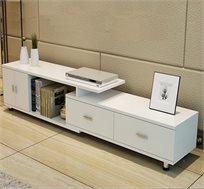 מזנון סלוני מודרני מעוצב בעל שתי מגירות, שתי דלתות ותא אחסון דגם ניו יורק