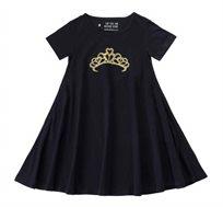 שמלה מסתובבת כתר מוזהב - שחור