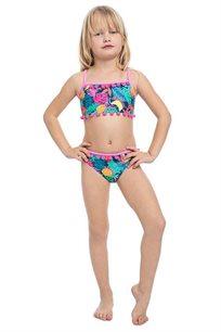 סט ביקיני טרופי לילדות Pilpel בצבע צבעוני