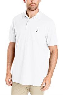 חולצת פולו נאוטיקה לגבר דגם K51701-1BW - לבן