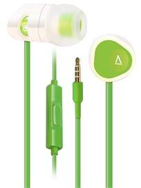 אוזניות ארגונומיות למוזיקה ושיחות Creative MA350 Green-White
