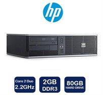 מחשב נייח מבית HP דגם DC5800 SFF, מעבד Intel Dual Core במהירות 2.2GHz, זיכרון 2GB, דיסק קשיח 80GB