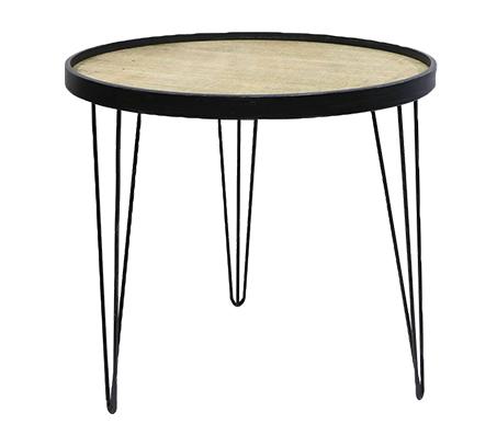 שולחן צד סלוני מעוגל בגדלים לבחירה