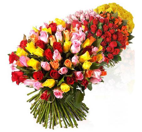 זר מיקס ורדים