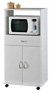 ארונית מיקרוגל למטבח 2 דלתות ומגירה בצבע לבן מבית רהיטי יראון