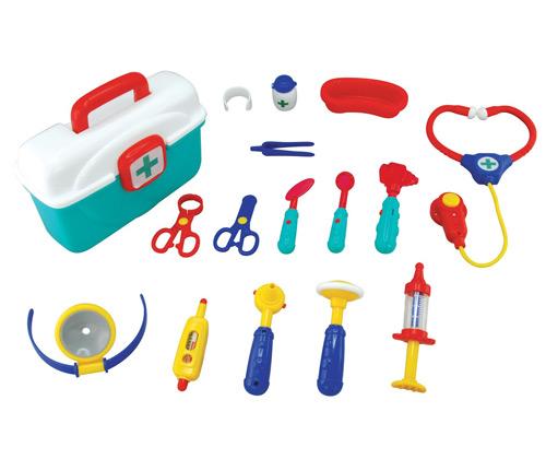 ערכת רופא עם מגוון אביזרים ומכשירים למשחק