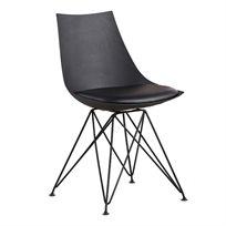 כסא מעוצב לפינת אוכל עם כרית מרופדת דמוי עור למקסימום נוחות דגם BETA בשני צבעים לבחירה
