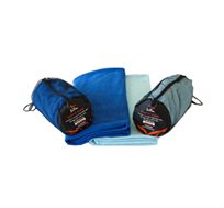 שתי מגבות הפלא לים, לקמפינג, לספורט - קלות ודקות עם כושר ספיגה גבוה מיקרו פייבר Quick Dry