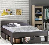 מיטה זוגית עם מגירות ותאי אחסון דגם שיקגו HOME DECOR