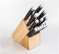 סט סכינים 14 חלקים מקצועי פלנרו במעמד עץ מהודר