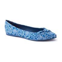 Rocket Dog Jenelle - נעלי בובה כחולות בשילוב הדפס