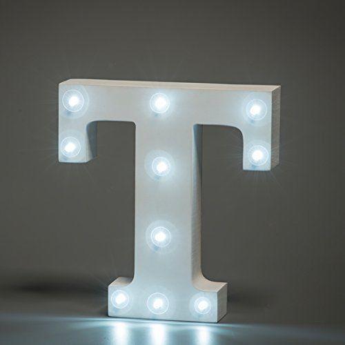 מנורת לילה עם תאורת לד Led מעוצבת בצורת האות T