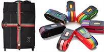 בראש שקט! רצועת מזוודה המשמשת לסימון + בטחון-הידוק ושמירה מפתיחה לא רצונית של מזוודה
