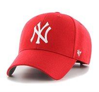 כובע ניו יורק יאנקיז  - אדום סמל לבן