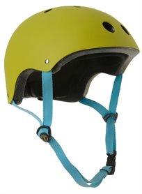 קסדה בטיחותית לפעוטות וילדים עם מנגנון התאמה לראש ו 11 פתחי איוורור מידה S ירוק