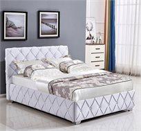 מיטה זוגית מעוצבת בריפוד בד עם ארגז מצעים מובנה HOME DECOR