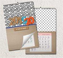 לוח שנה ספירלה מעוצב בגודל A4 עם תמונות אישיות לבחירתכם