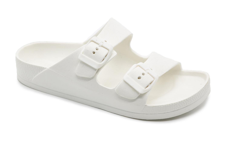 Kedma נשים// כפכף רצועות נשים לבן