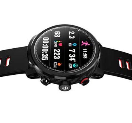 שעון ספורט חכם Bluetooth עם מסך OLED אטום למים עם מד דופק מד לחץ דם מד צעדים