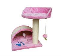 מתקן גרוד לחתולים כולל מרפסת PETSLAND + תרסיס קטניפ מתנה