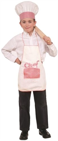 תלבושת שף ילדים (כובע וחלוק)
