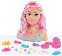 ראש בובה ברבי מקורי - עיצוב שיער