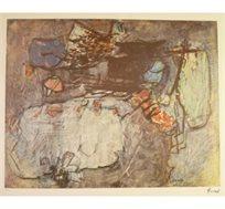 """""""ציפורים"""" - ציורו של מאירוביץ צבי, הדפס בחתימה אישית בגודל 57X74 ס""""מ"""